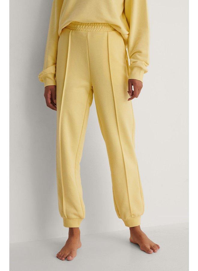 NA-KD Cropped Sweatpants Yellow 1660-000217