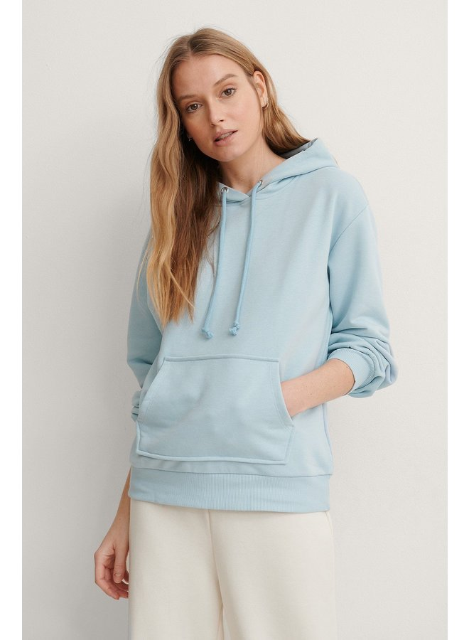 NA-KD Basic Hoodie Blue 1660-000214