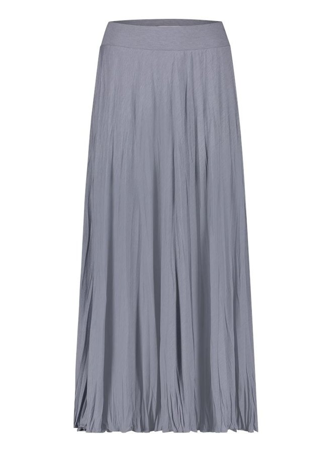 Simple Sofie Dusty Blue crushed effect skirt Crushed-Jersey-01