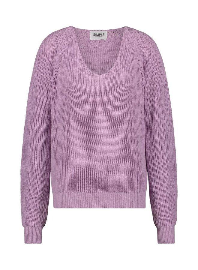 Simple Soraya Violet Pastel sweater v-neck CO-ACR-01