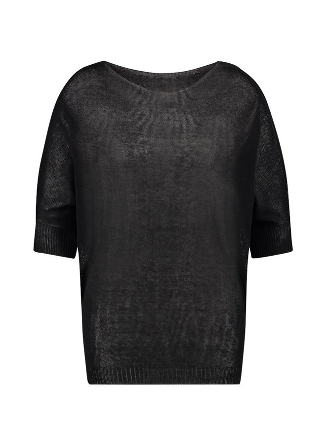 Simple Bowi sweater black FK-Viscose-Linen-FR01