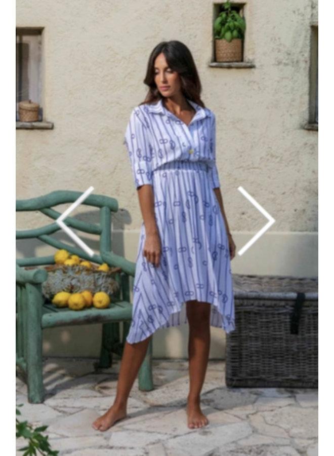 Genesis Malya Dress St. Tropez Moby White 10003