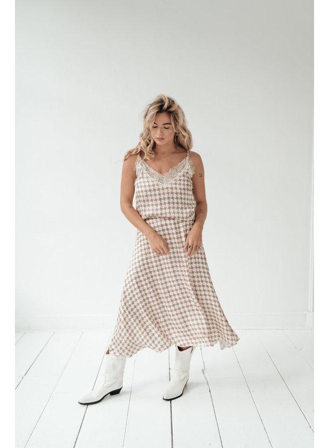 Amaya Lou hemdje print beige 2133