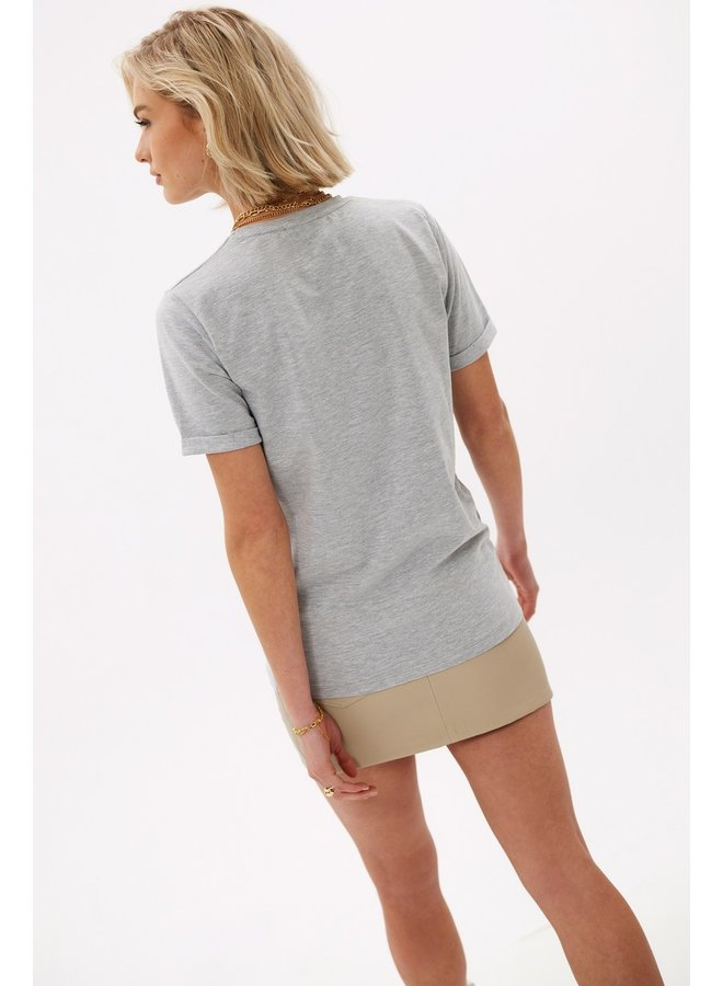 Loavies The perfect basic tee Grey Melange LOAV85149