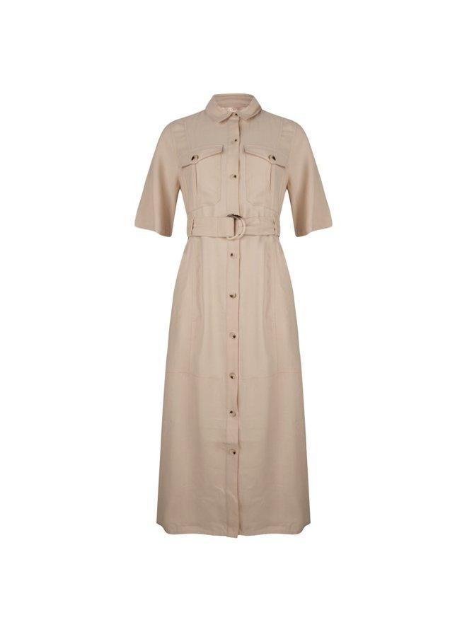 Esqualo Dress utility long dobby Beige SP21.17018