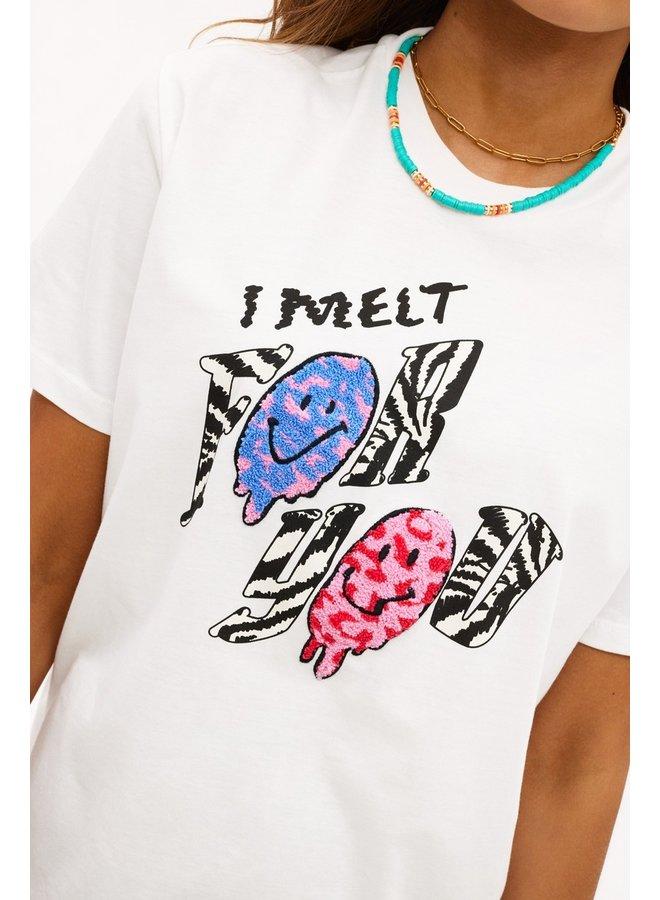 Loavies I melt for you t-shirt met print LOAV87066