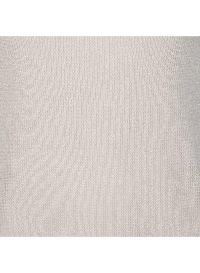 Esqualo Camisole V-neck rib lurex off white HS21.31216