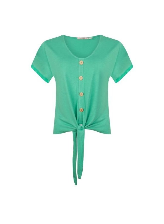 Esqualo T-shirt buttoned front knot Jade HS21.30230