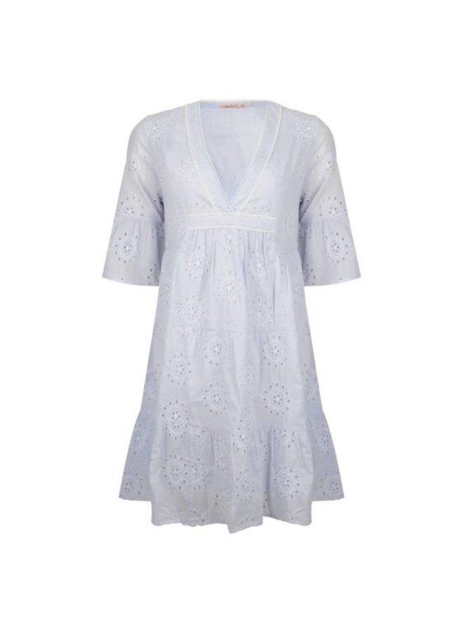 Esqualo Dress broderie anglaise Light Blue HS21.19200