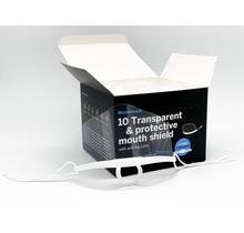 Transparent plastic mouth shield XL