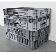 Stacking and nesting crates - Set of 4
