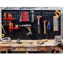 Wall mounted tool pegboard