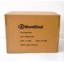 Karton: Zwarte mondmaskers (40 doosjes)