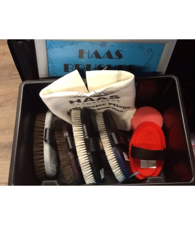 HAAS LUXURY GROOMING BRUSH SET #1 (4 brushes + cotton cloth)