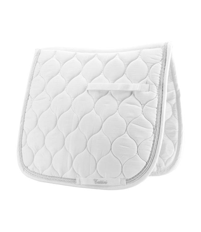 TATTINI 3-ROPE DRESSAGE SADDLE PAD White