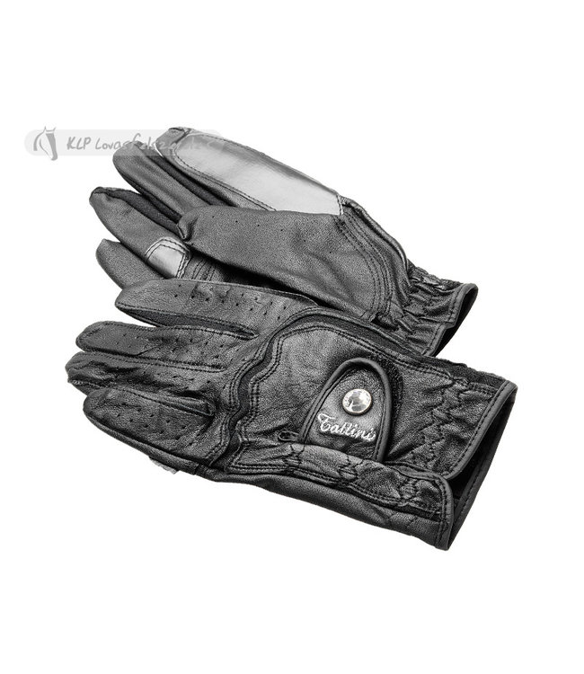 TATTINI LEATHER GLOVES with crystals