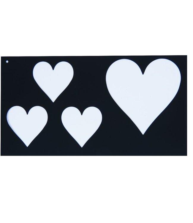 ROMA SHOW CHECKERS - HEARTS, Black