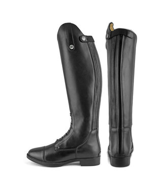 DERBY DERBY JUNIOR RIDING BOOTS WITH BACK ZIPPER Synthetic Leather WIDE CALF