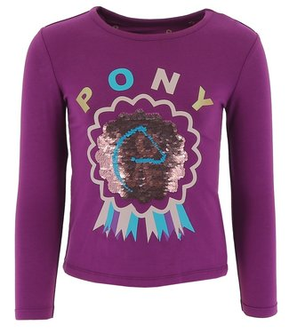 """EQUITHÈME  EQUIKIDS EQUIKIDS """"PONY LOVE"""" GIRLS T-SHIRT with sequins"""