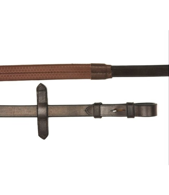 """MACKEY CLASSIC LEATHER RUBBER GRIP REINS 7/8"""""""