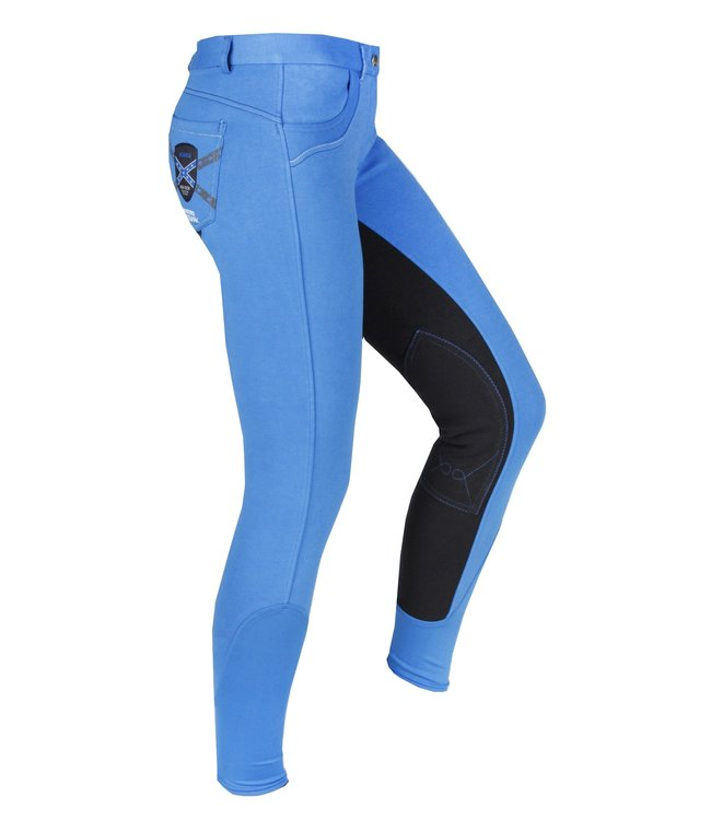 HORKA 'CENTURY ELASTA' JUNIOR BREECHES Fabric Patch  UK16 BLUE