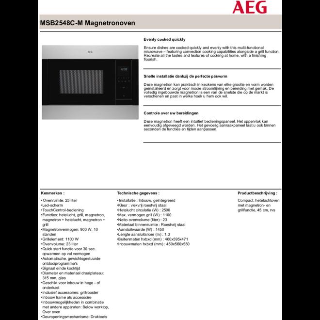 AEG MSB2548CM Combimagnetron Inbouw