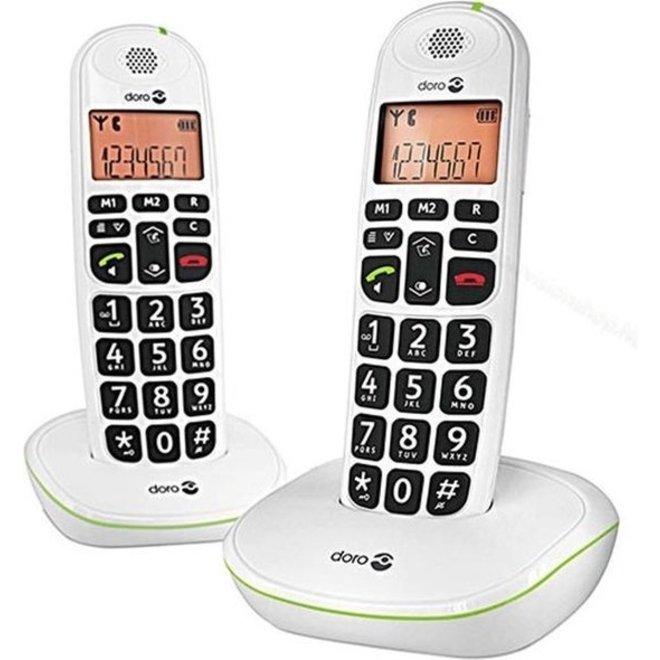 Doro PhoneEasy 100W Duo Dect Telefoon
