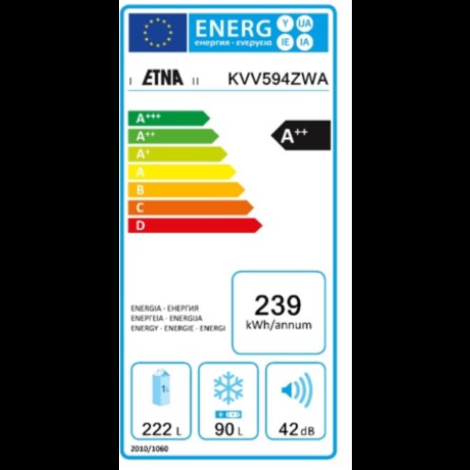 Etna KVV594ZWA Retro Koelvriescombinatie