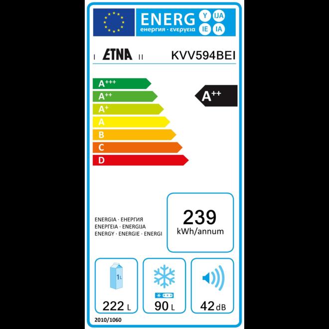Etna KVV594BEI Retro Koelvriescombinatie