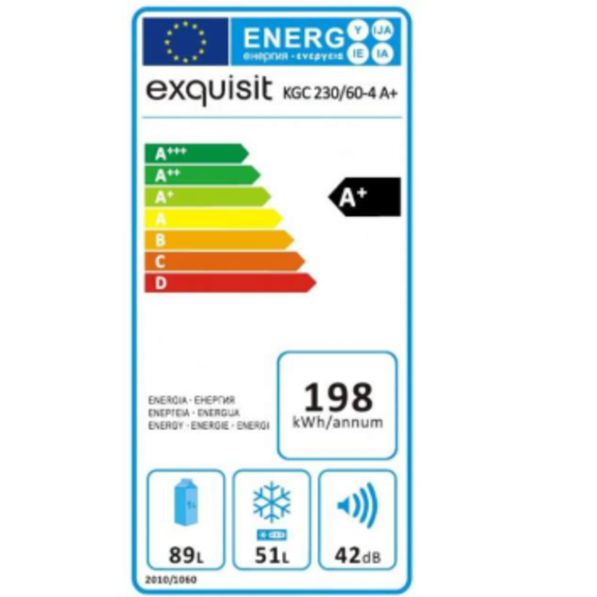 Exquisit KGC230/60-4 Koelvriescombinatie