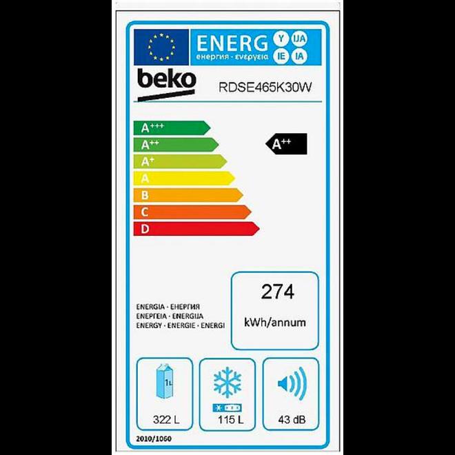 Beko RDSE465K30W Koelvriescombinatie