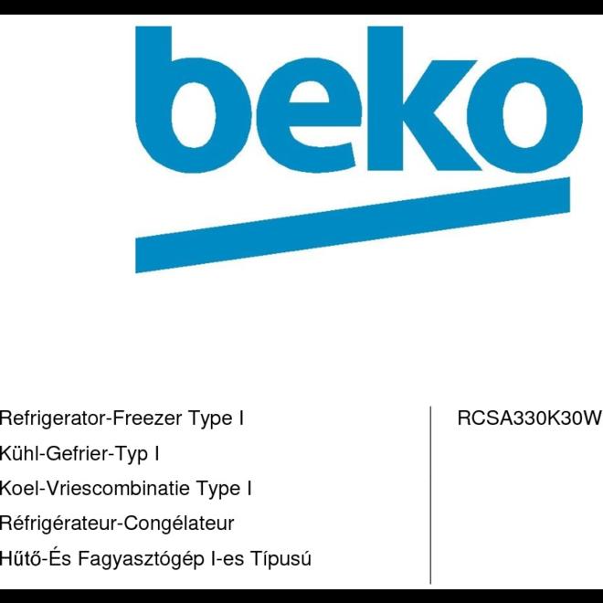 Beko RCSA330K30W Koelvriescombinatie