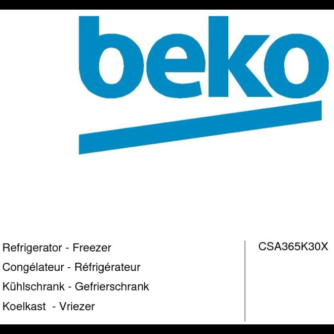 Beko CSA365K30X Koelvriescombinatie