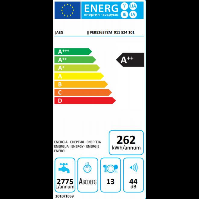 AEG FEB52637ZM Integreerbare Vaatwasser