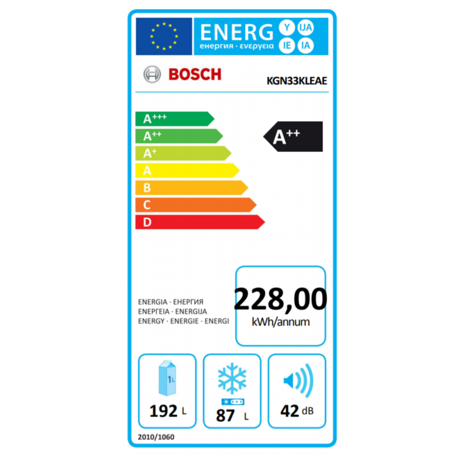 Bosch KGN33KLEAE Koelvriescombinatie