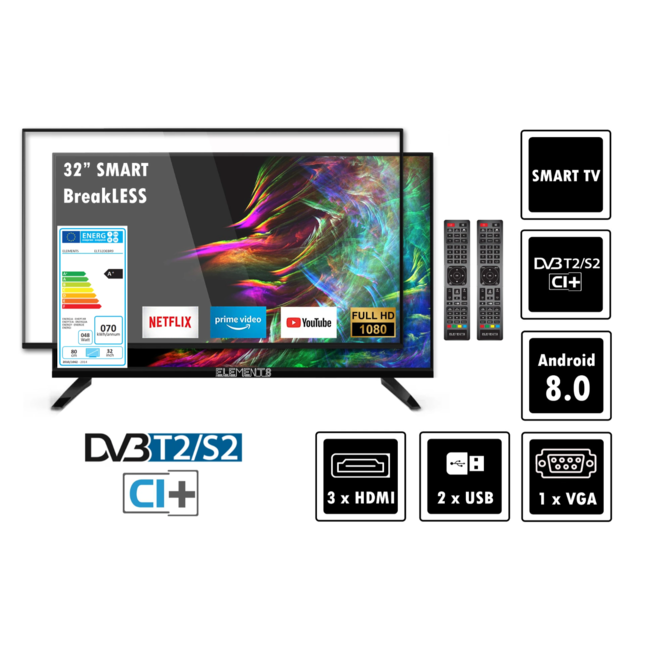 Elements ELT32SDEBR9 - 32 inch led tv