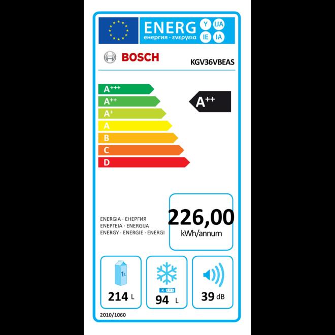 Bosch KGV36VBEAS koel-vriescombinatie