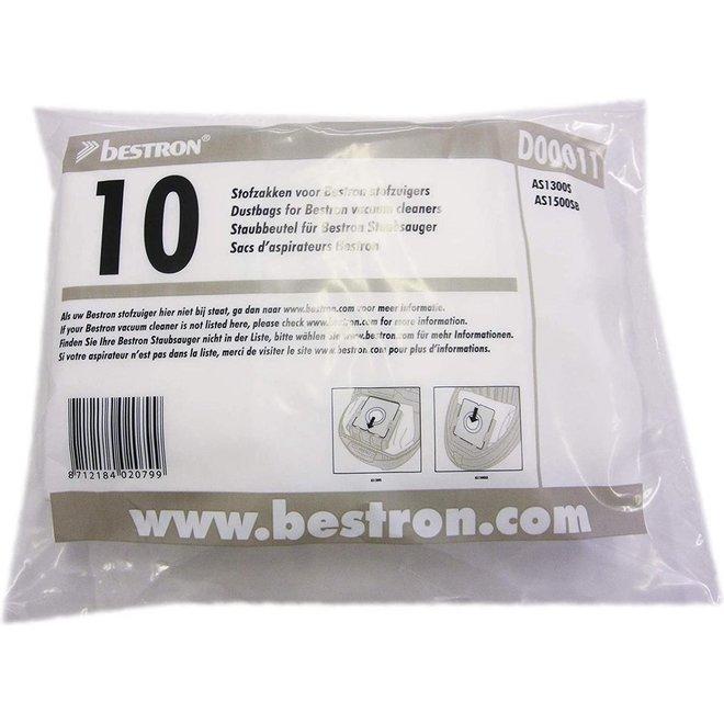 Bestron D00011 Micro Fleece stofzuigerzakken 10 stuks