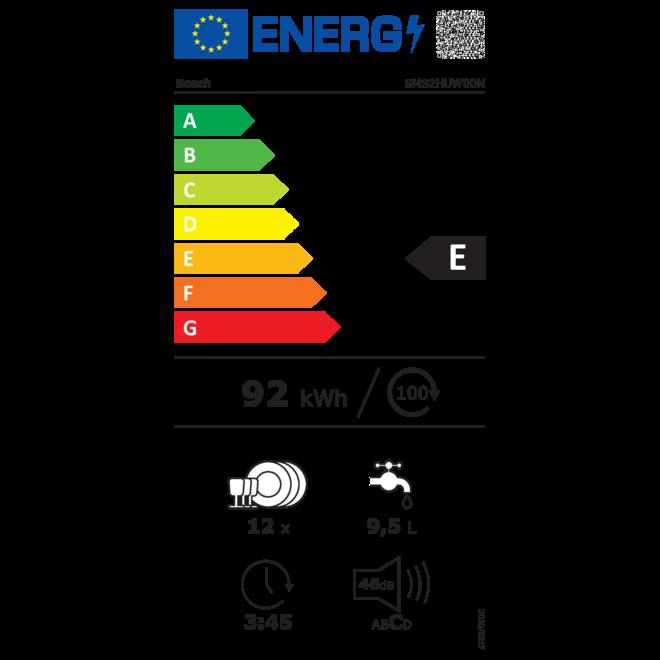 Bosch Exclusiv SMS2HUW00N Vrijstaande vaatwasser