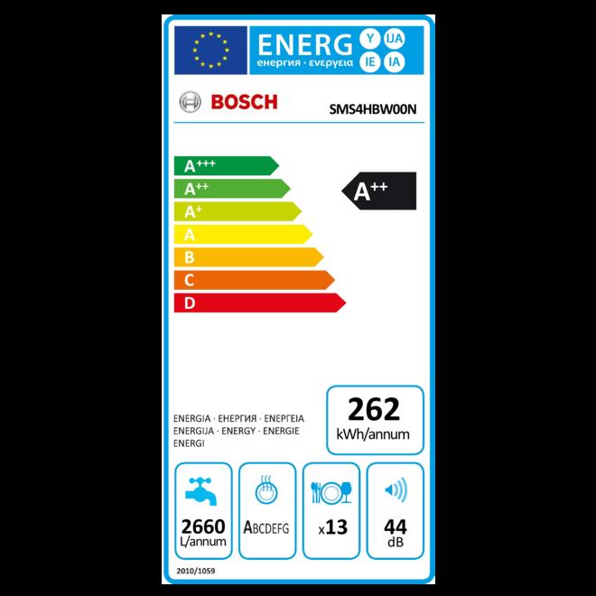 Bosch SMS4HBW00N Vrijstaande vaatwasser