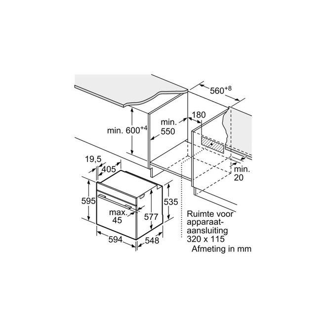 Bosch HBG633BB1 Inbouw Bakoven