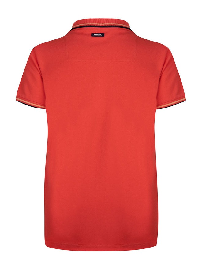 Polo Ss Basic Red Orange