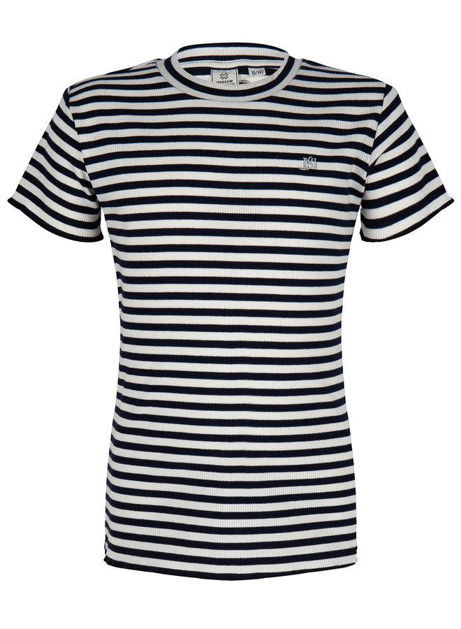 T-Shirt Ss Stripe Striped
