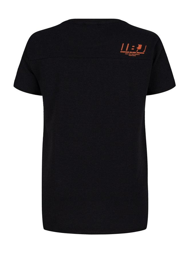 T-Shirt Ss Indian World Black