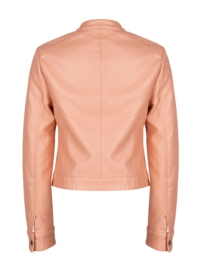 Fake Leather Jacket Blush Pink