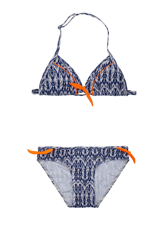 Bikini Aztec Contrast Fresh Navy