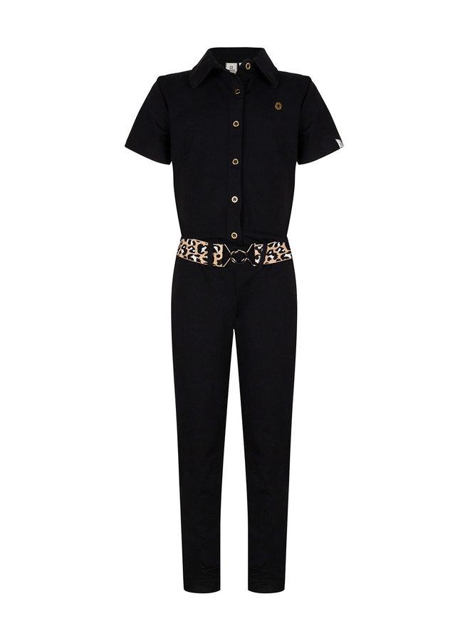 Jumpsuit Ss Belt Black