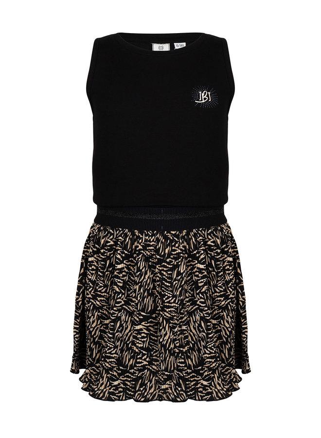 Dress Ss Contrast Black