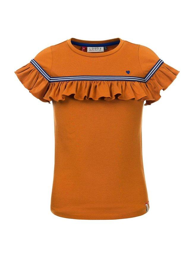 Little t-shirt s. sleeve Ochre
