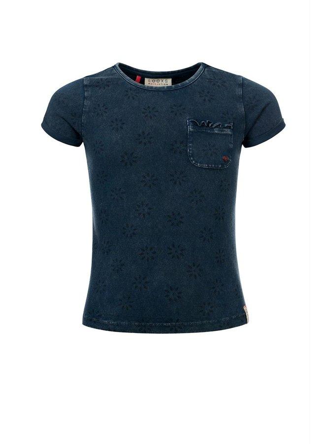 Little t-shirt s. sleeve Indigo Blue